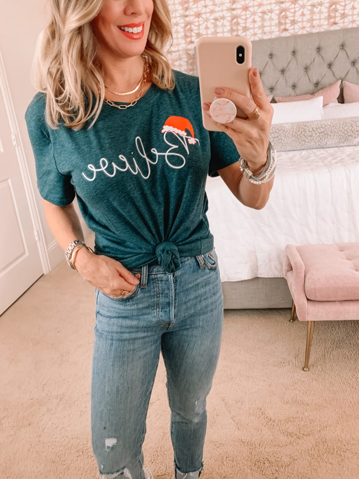 Amazon Fashion Faves. Believe Tee, Jeans, Sneakers