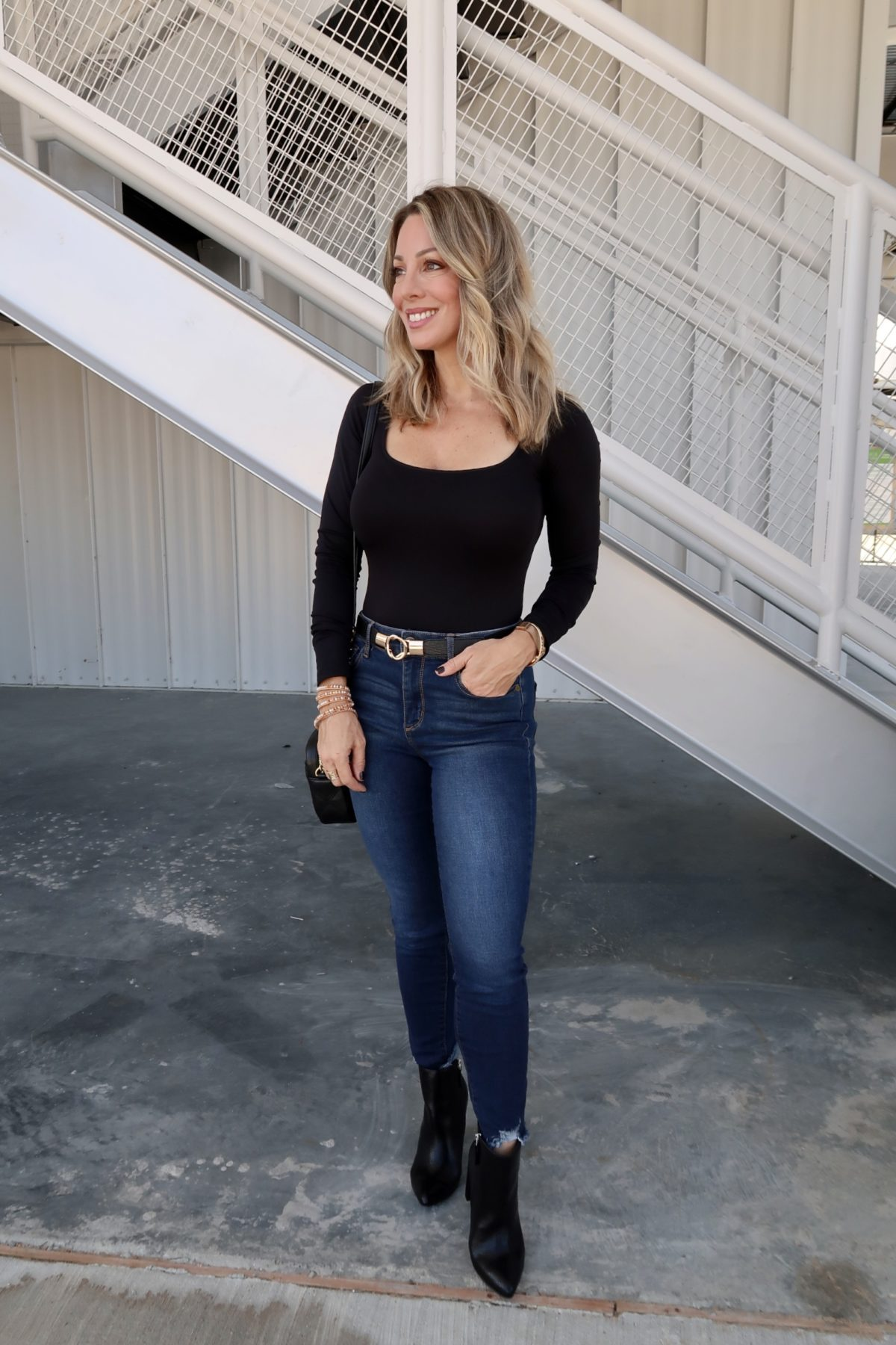Walmart Fashion Finds, Bodysuit, Jeans, Booties