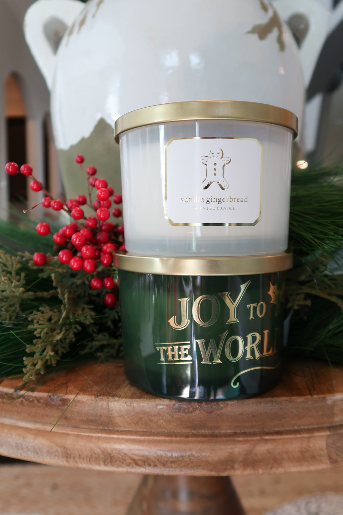 Candles, Vanilla Gingerbread, Joy to the World