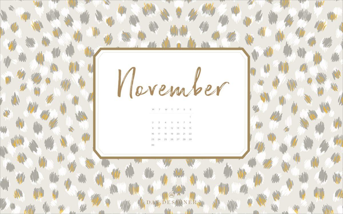 November calendar desktop FREE