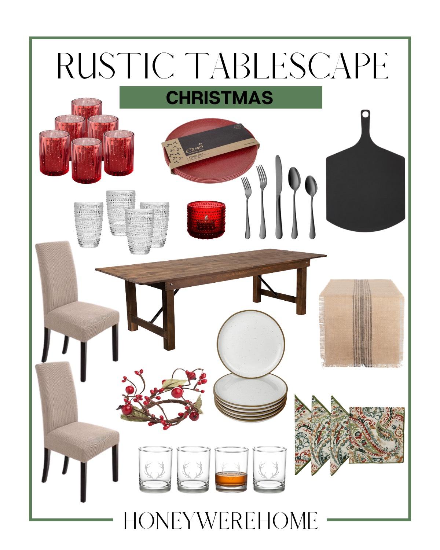 Amazon Rustic Tablescape