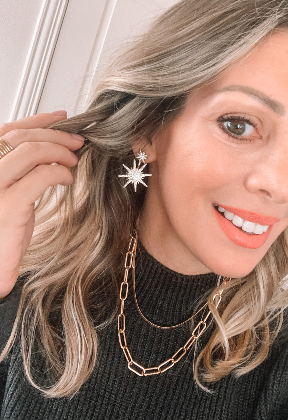 Amazon Fashion Faves, Starburst Earrings, Chain Necklace
