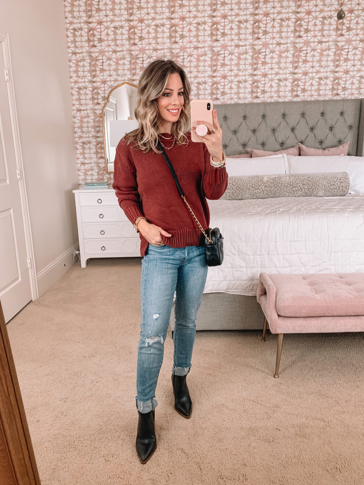 Amazon Fashion Faves, Sweater, Jeans, Booties, Crossbody Bag