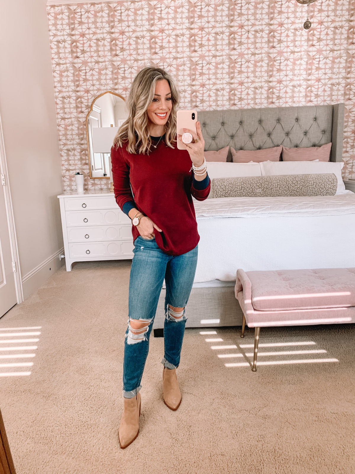 Dressing Room Try On Nordstrom, Frame Jeans, Booties