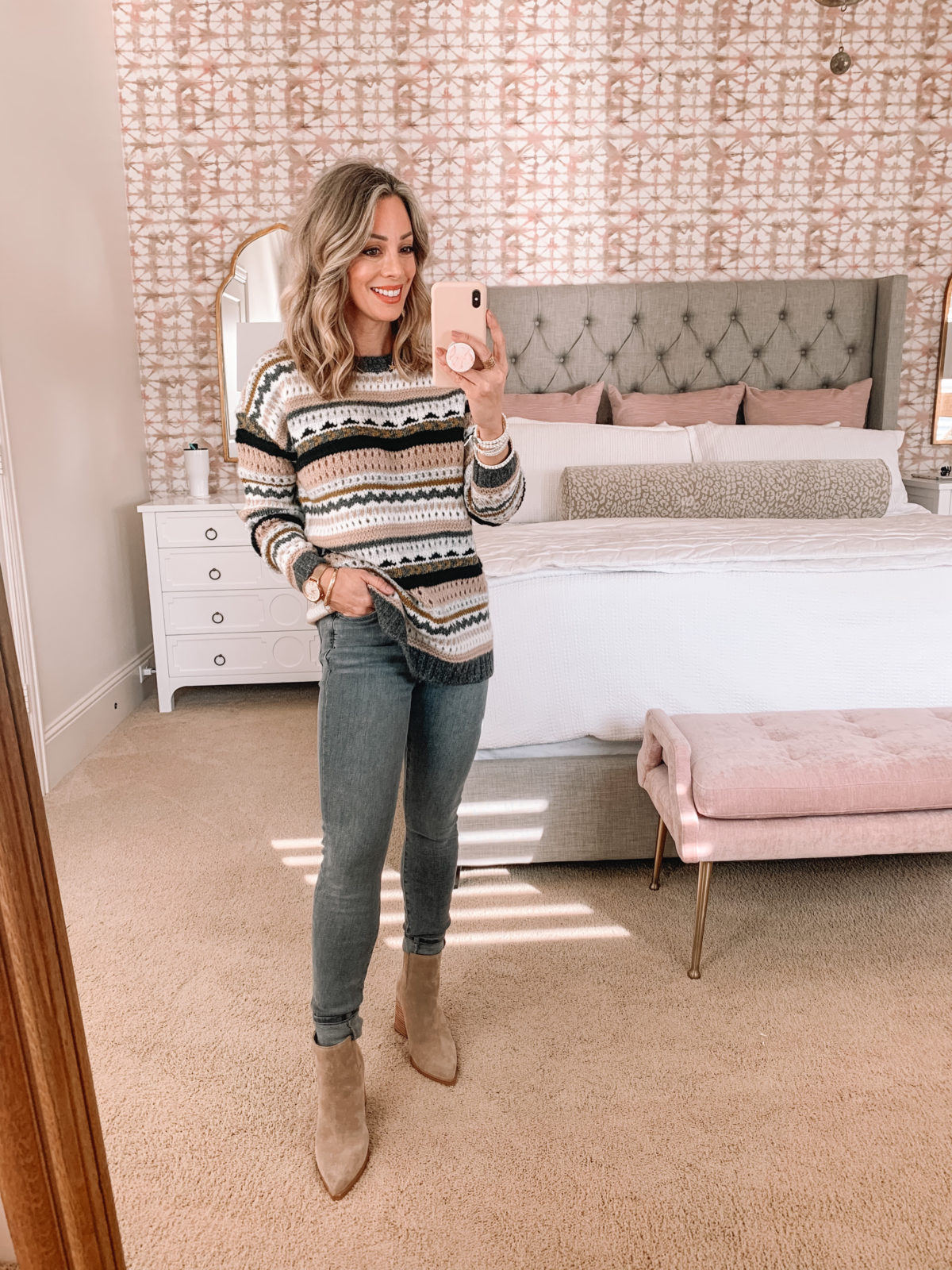 Dressing Room Try On LOFT, Jeans, Booties