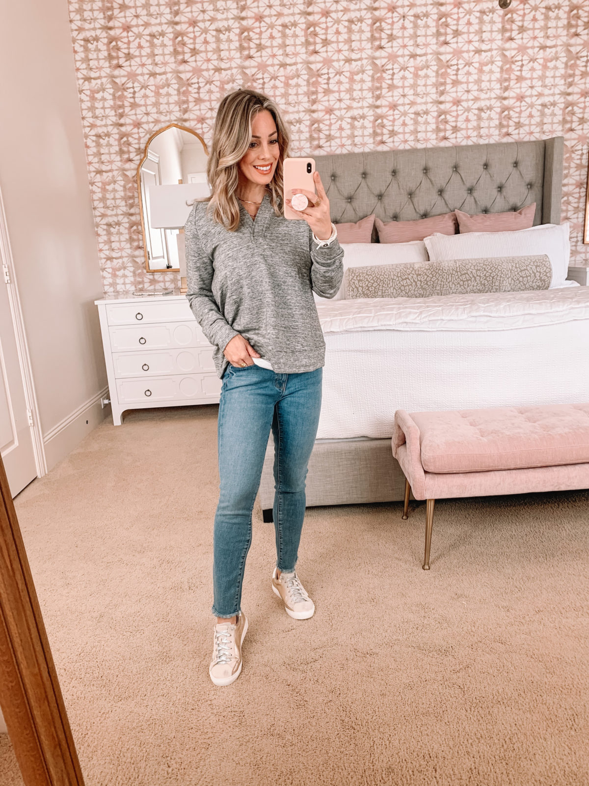 Amazon Fashion Faves, Pullover, Goodthreads Jeans, Sneakers