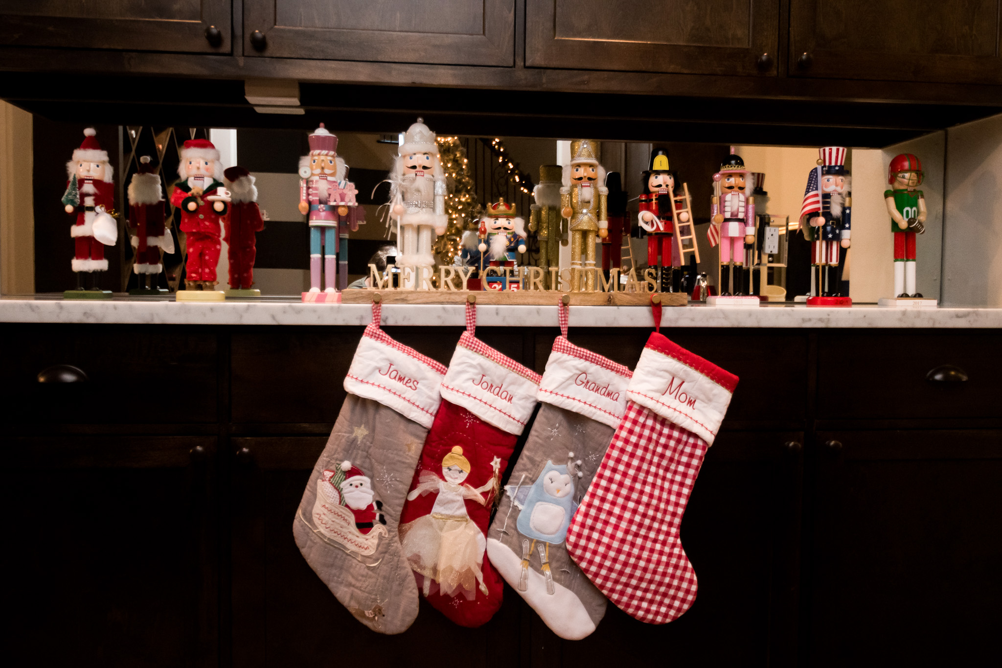Christmas Home Tour, Stockings, Nutcrackers