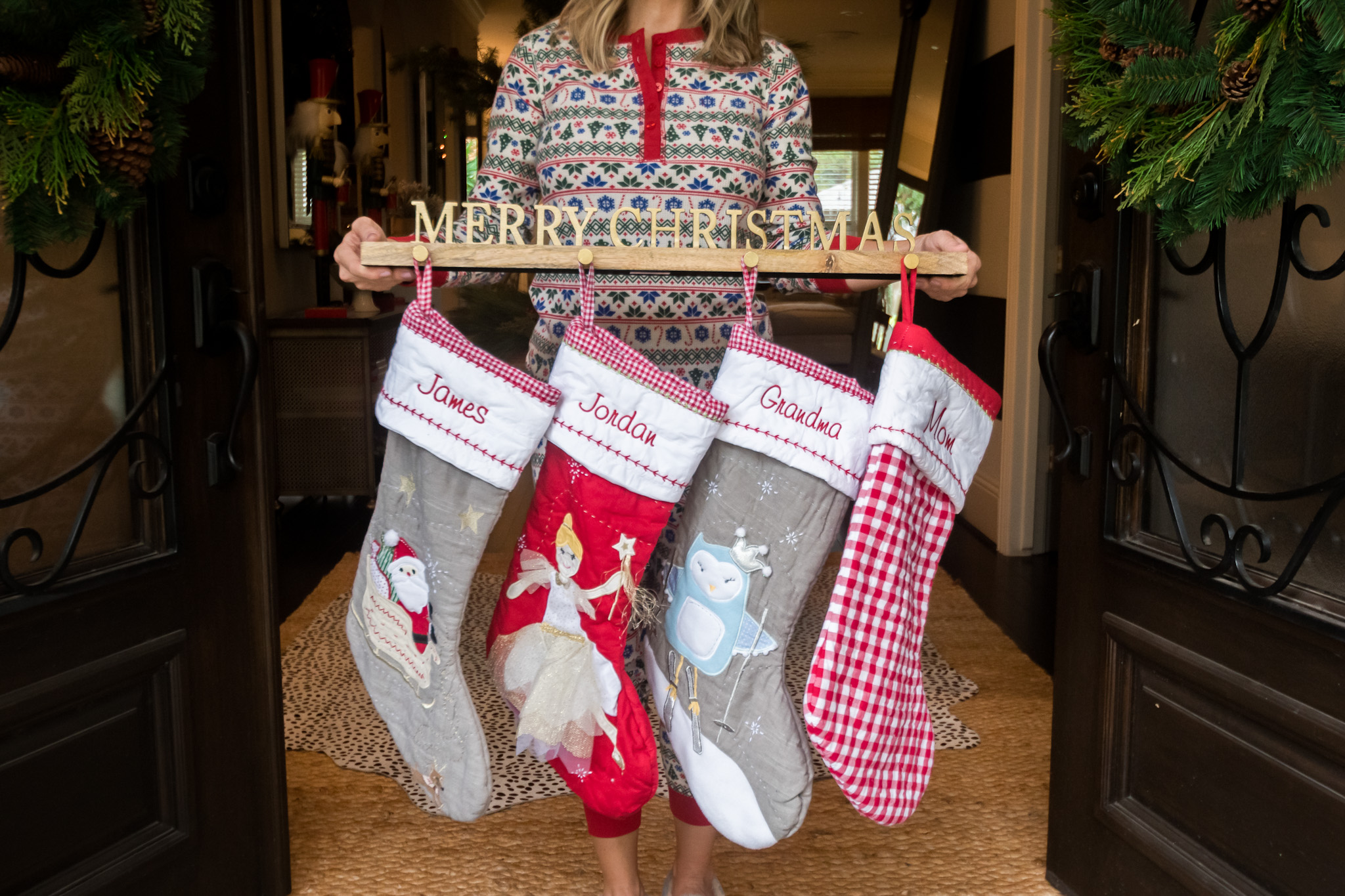 Christmas Home Tour, Stockings, Stocking Holder