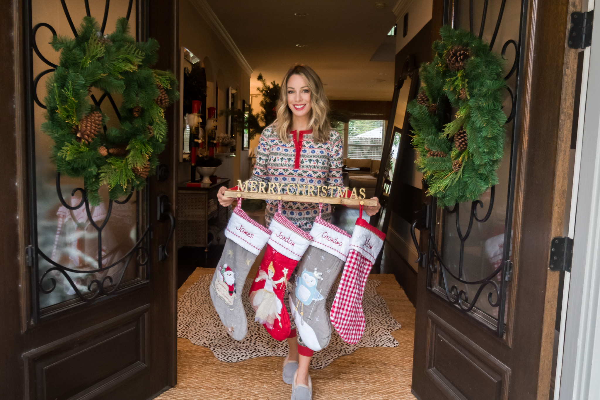 Christmas Home Tour, Stockings, Stocking Holder
