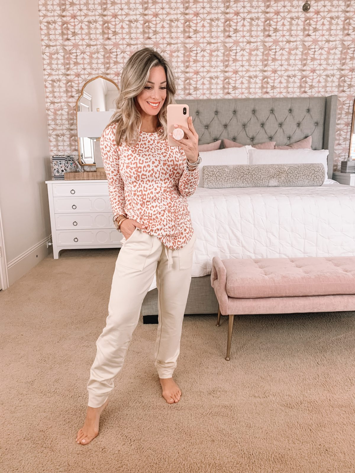 Amazon Fashion Faves, Leopard Print Top, Joggers