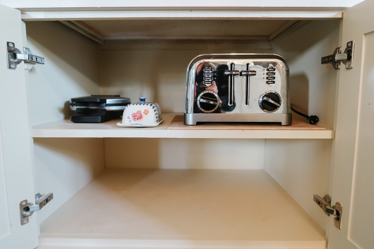 keep toaster in cabinet