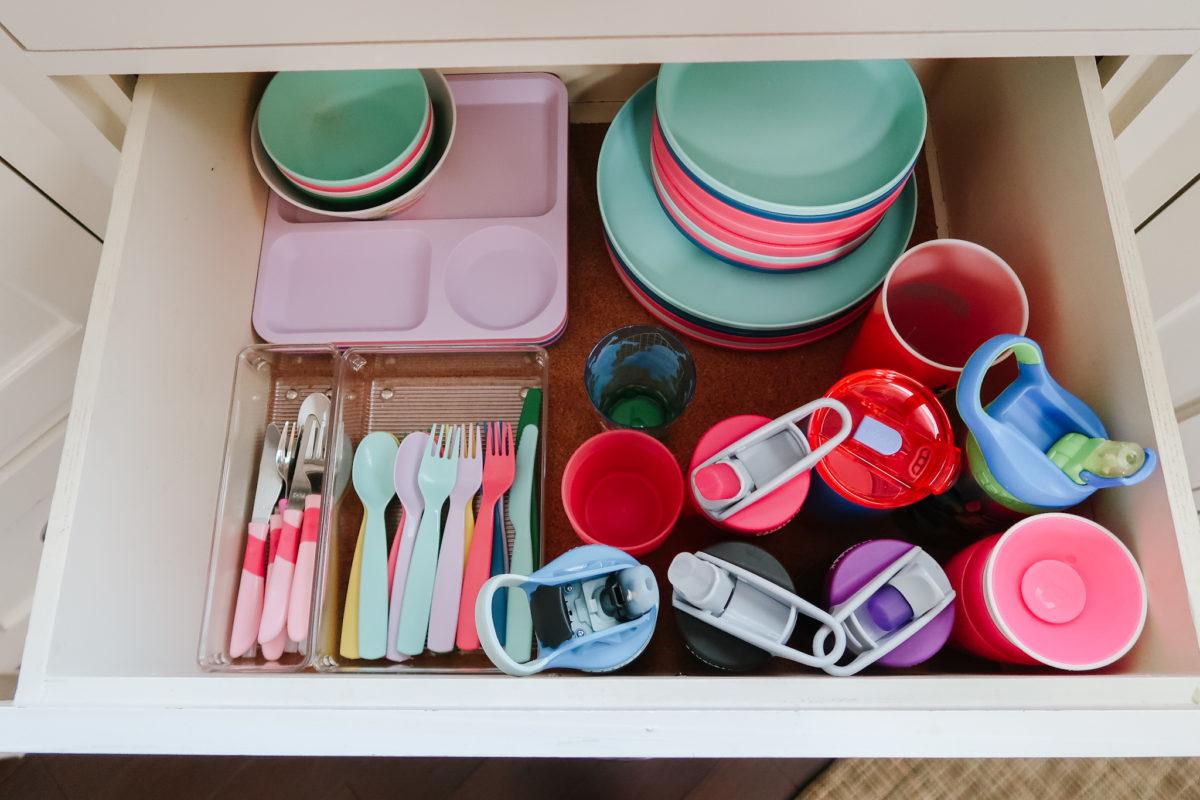 kitchen organization - kids things