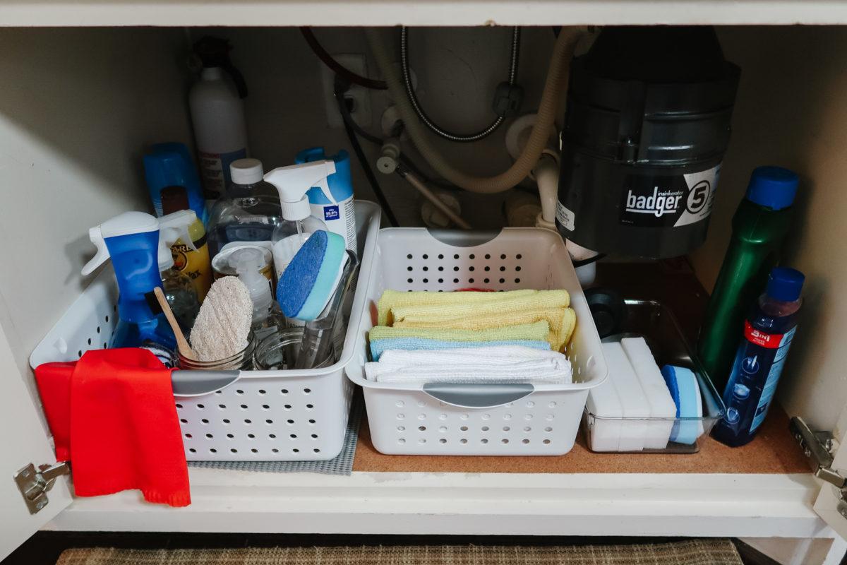 kitchen under sink organization