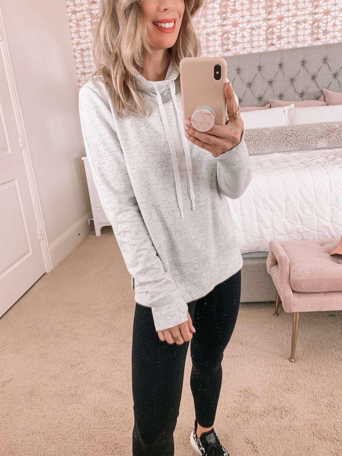 Amazon Fashion Faves, Tunic Sweatshirt, Leggings, Leopard Sneakers