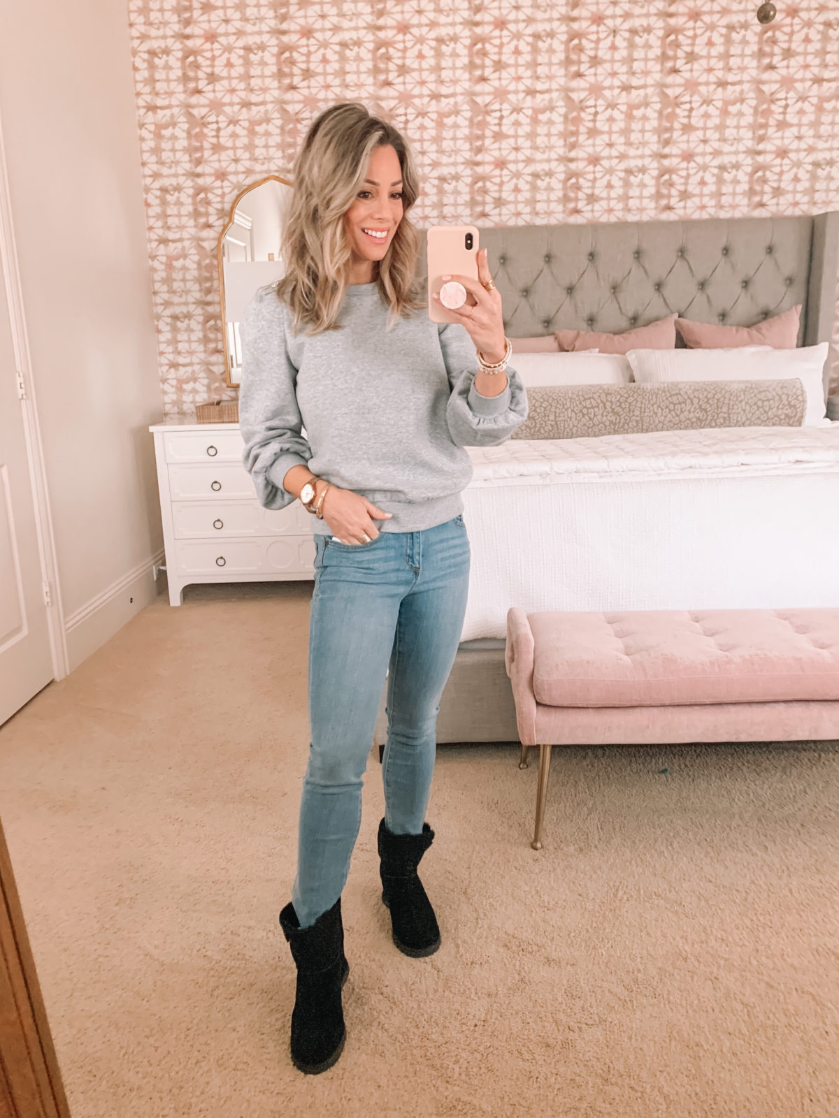 Dressing Room Finds, Sweatshirt, Jeans, Boots