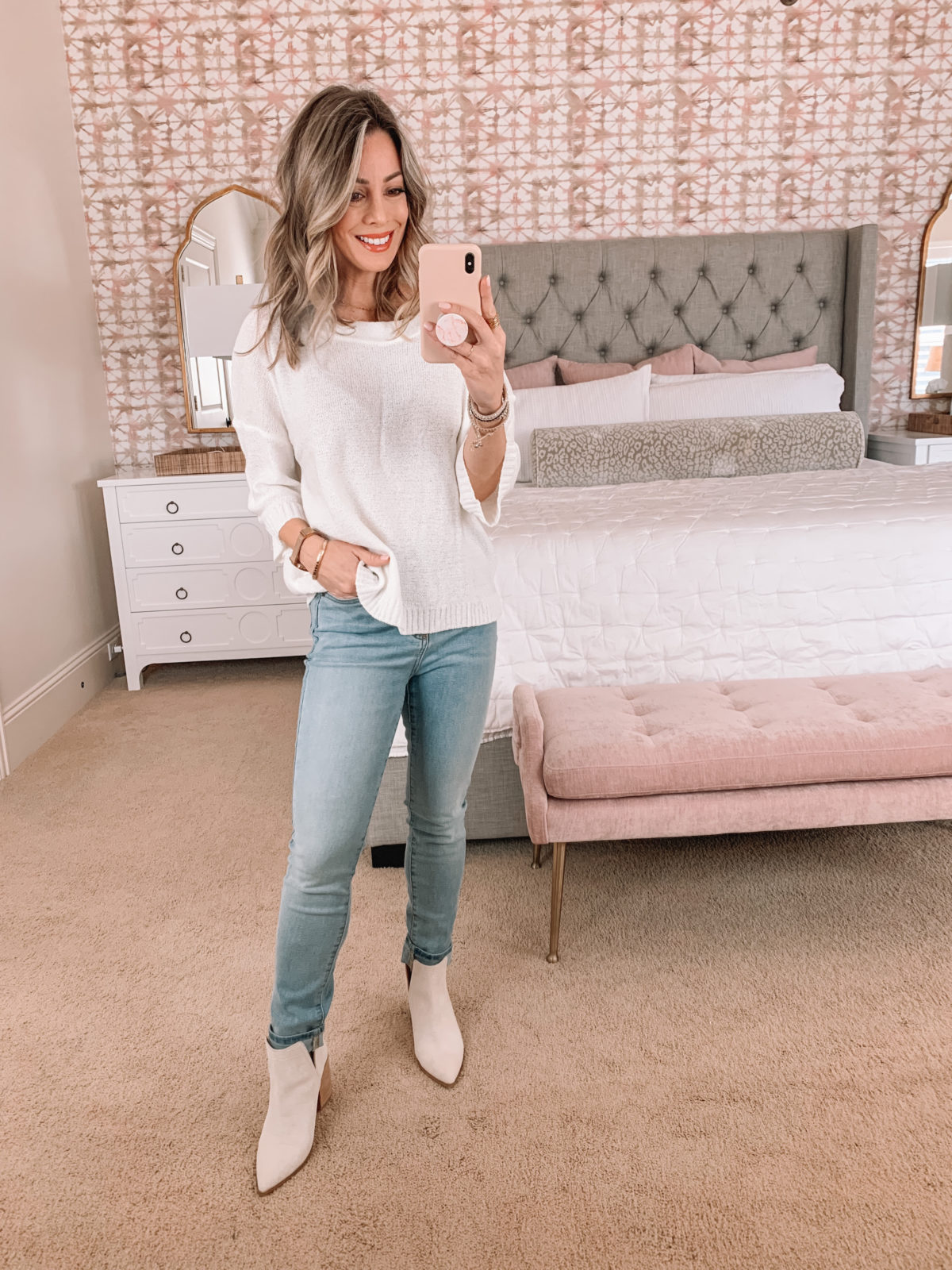 Amazon Fashion Faves, Sweater Top, Jeans, Booties