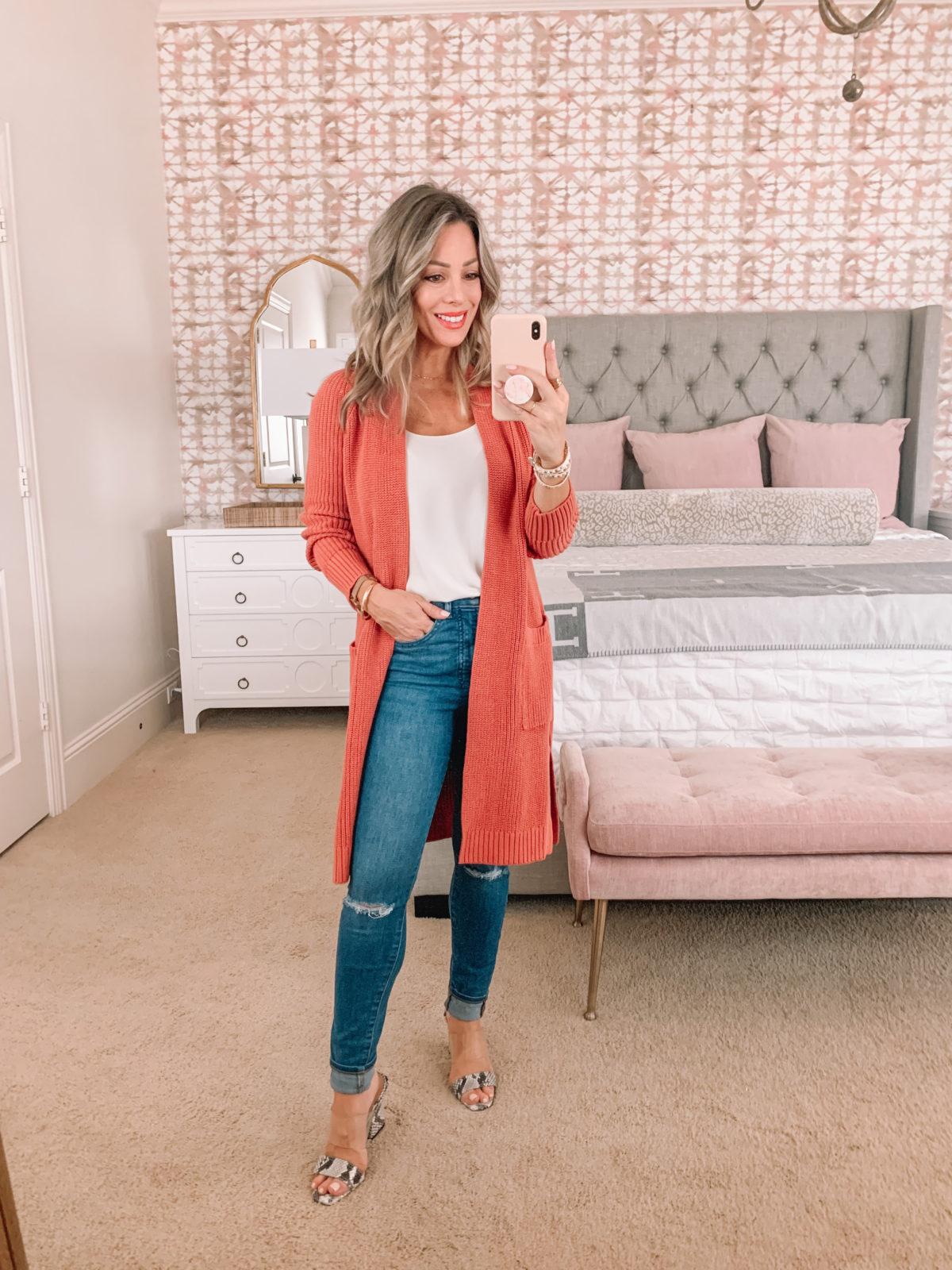 Dressing Room Finds Nordstrom, LOFT, Revolve, Cami , Cardigan, jeans, Sandals
