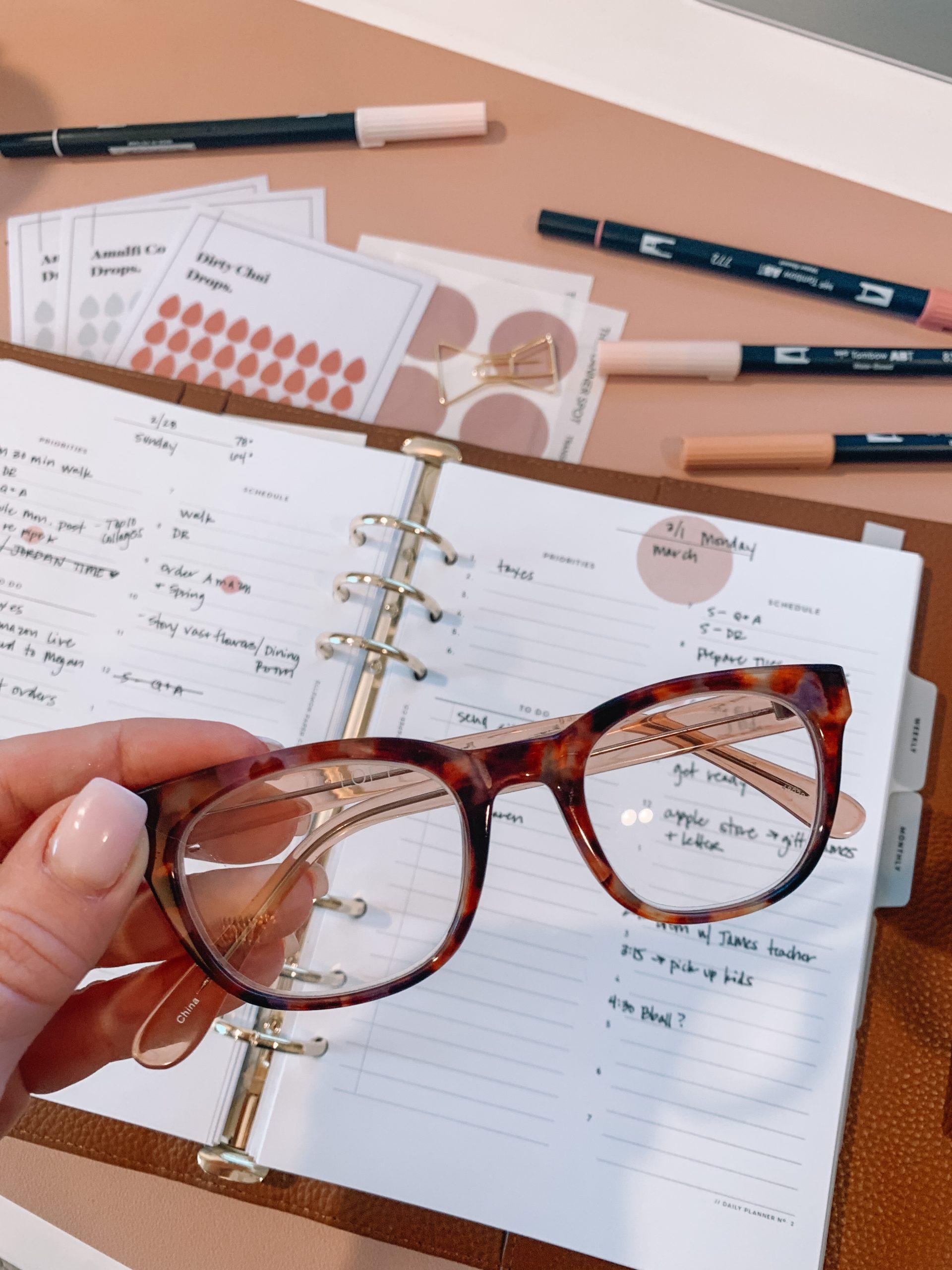 LOFT reading glasses