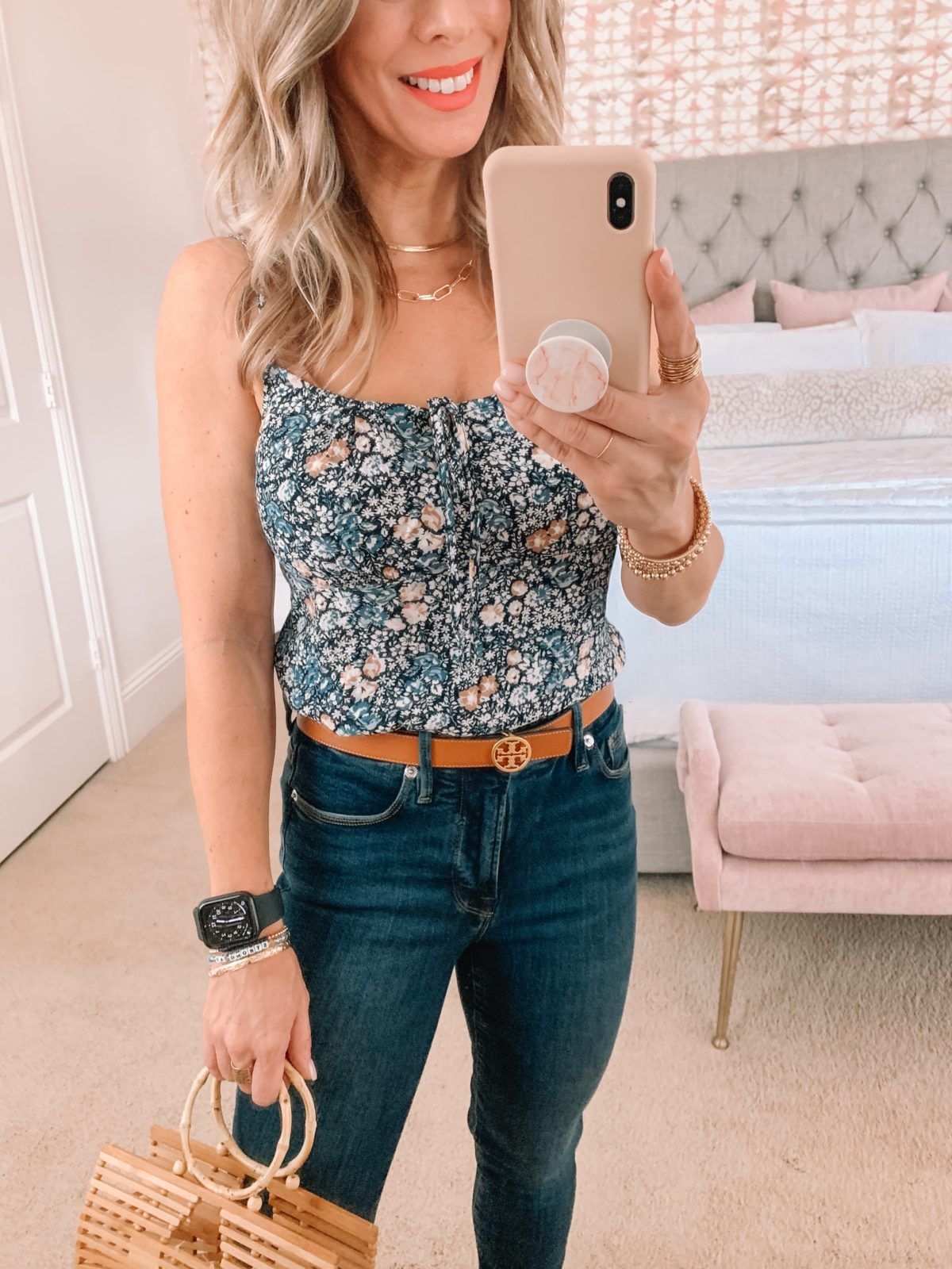 Dressing Room Finds, Nordstrom, Abercrombie, Bodysuit, Jeans, Sandals, Bamboo Clutch