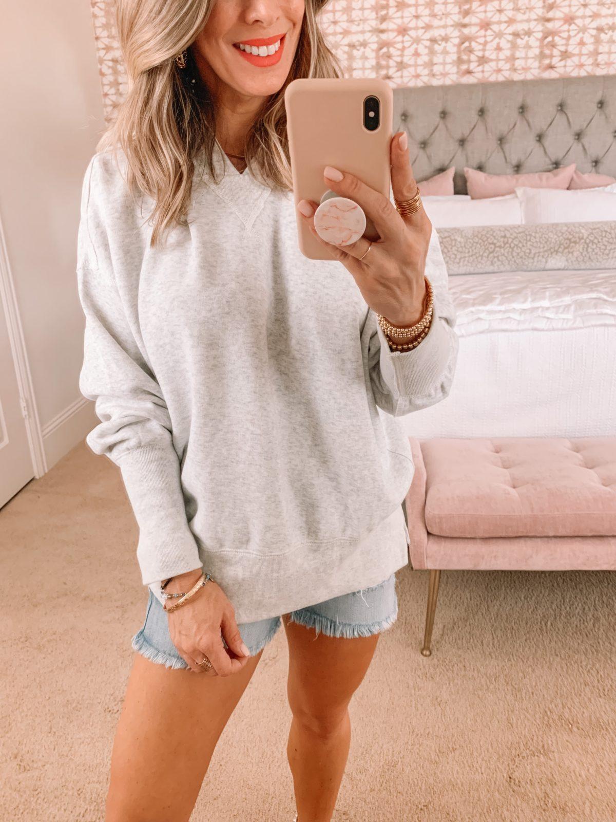 Dressing Room Finds, Abercrombie, Hoodie Sweatshirt, Shorts