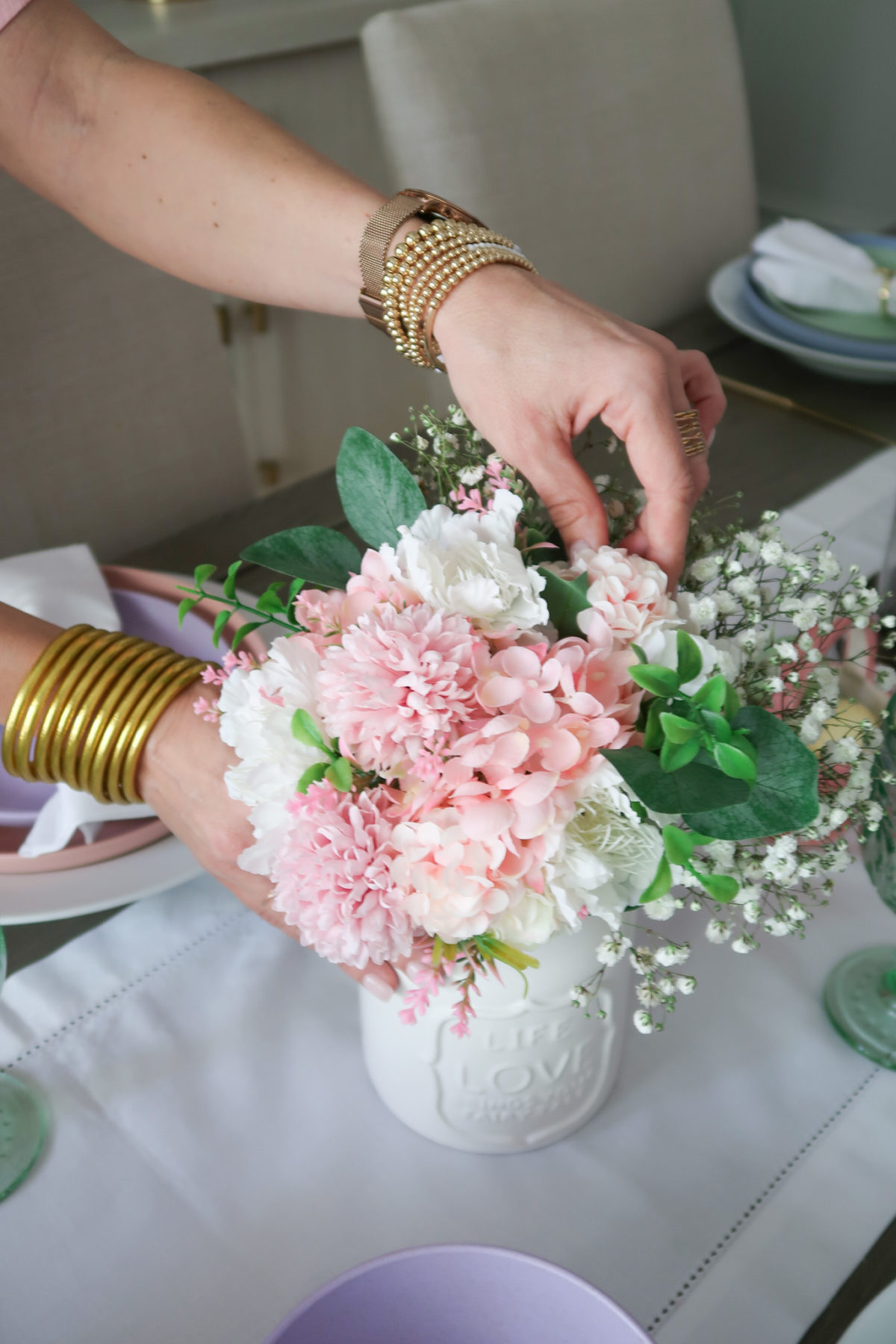 Spring Decor, Faux Flowers, Bracelets