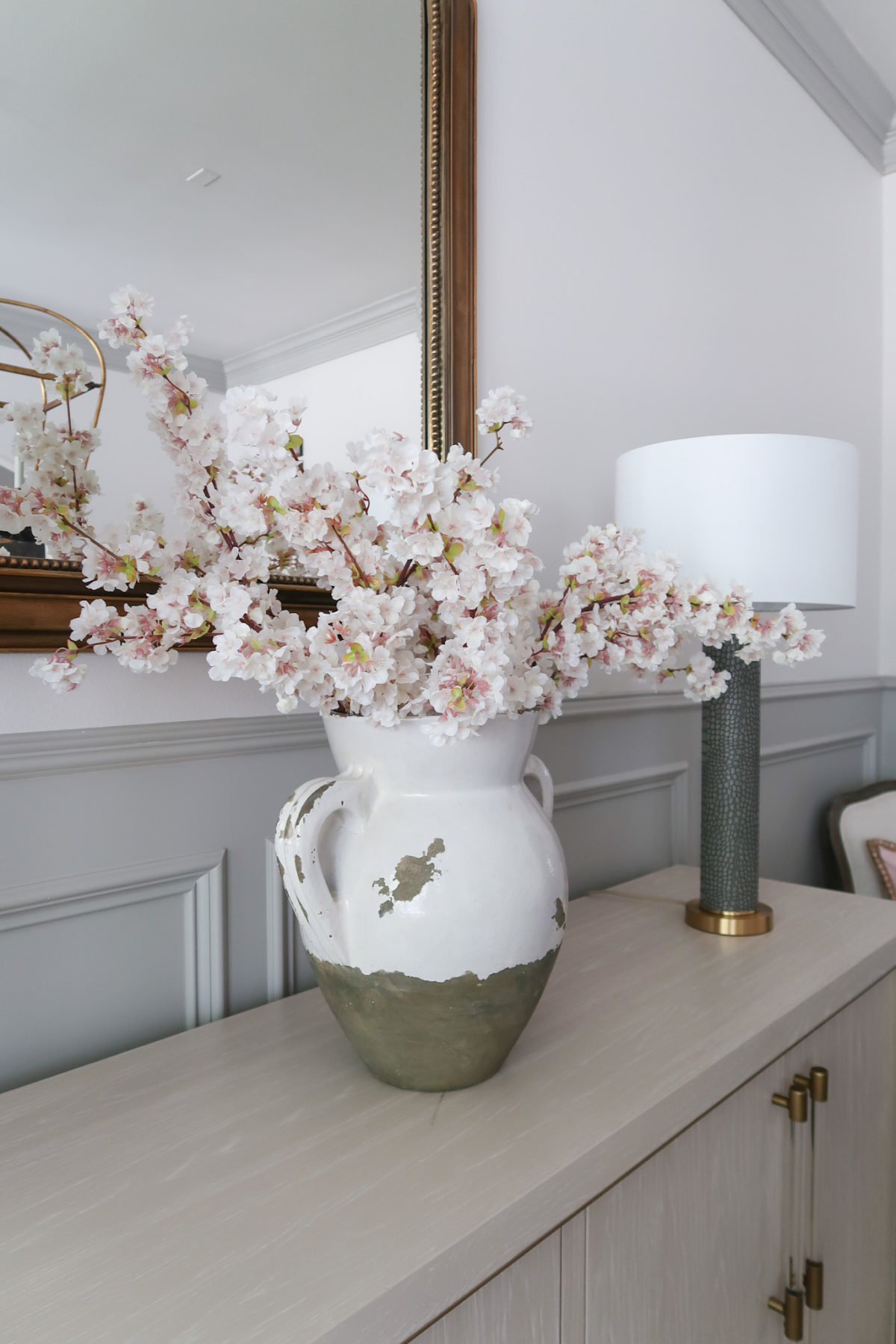 Spring Decor, Cherry Blossoms, Vase