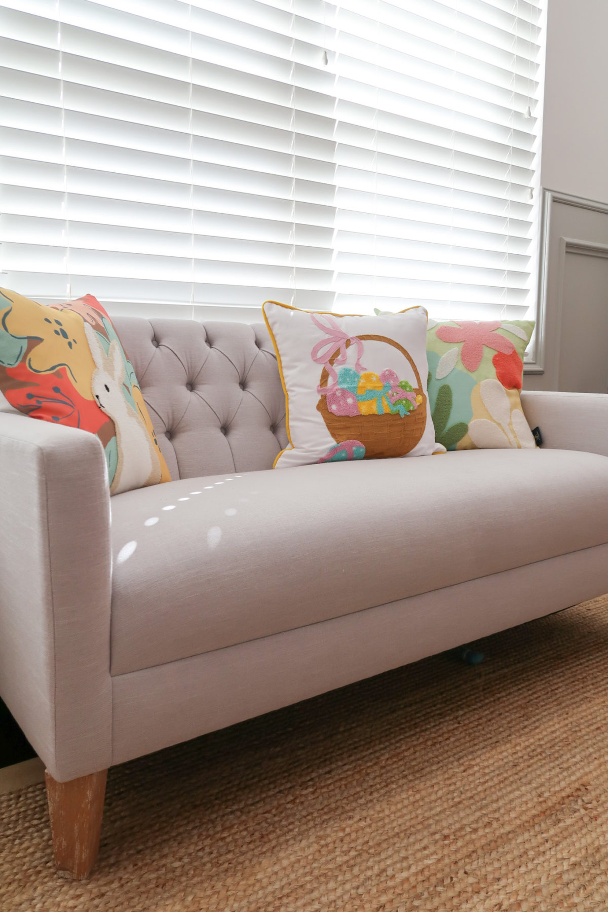 Spring Decor, Playroom Sofa, Easter Pillows
