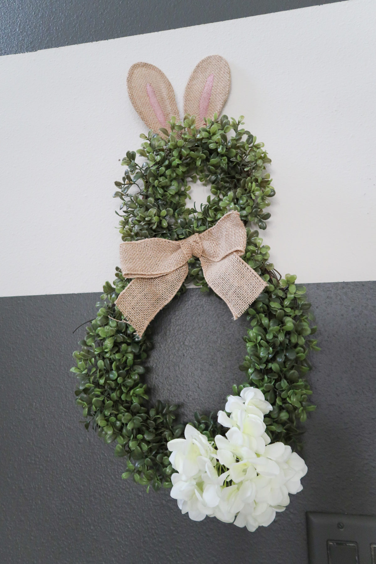 Spring Decor, Bunny Wreath