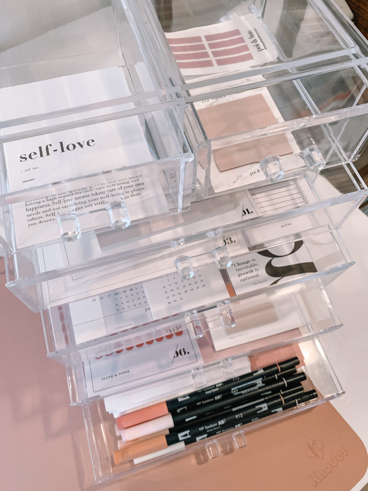 Amazon Fashion Faves, Clear Drawers, markers