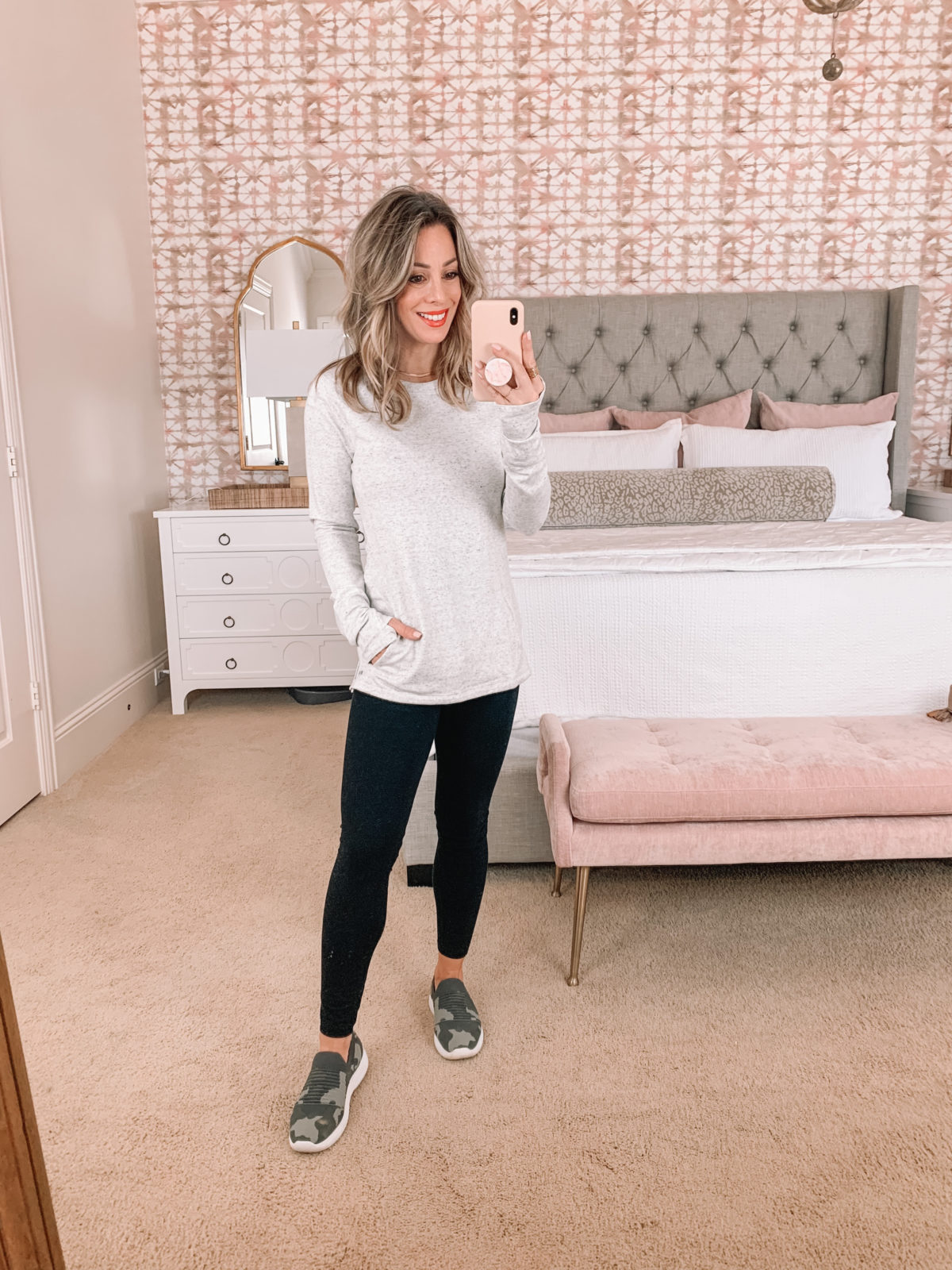 Amazon Fashion Faves, Pullover, Leggings, Camo Slip On Sneakers