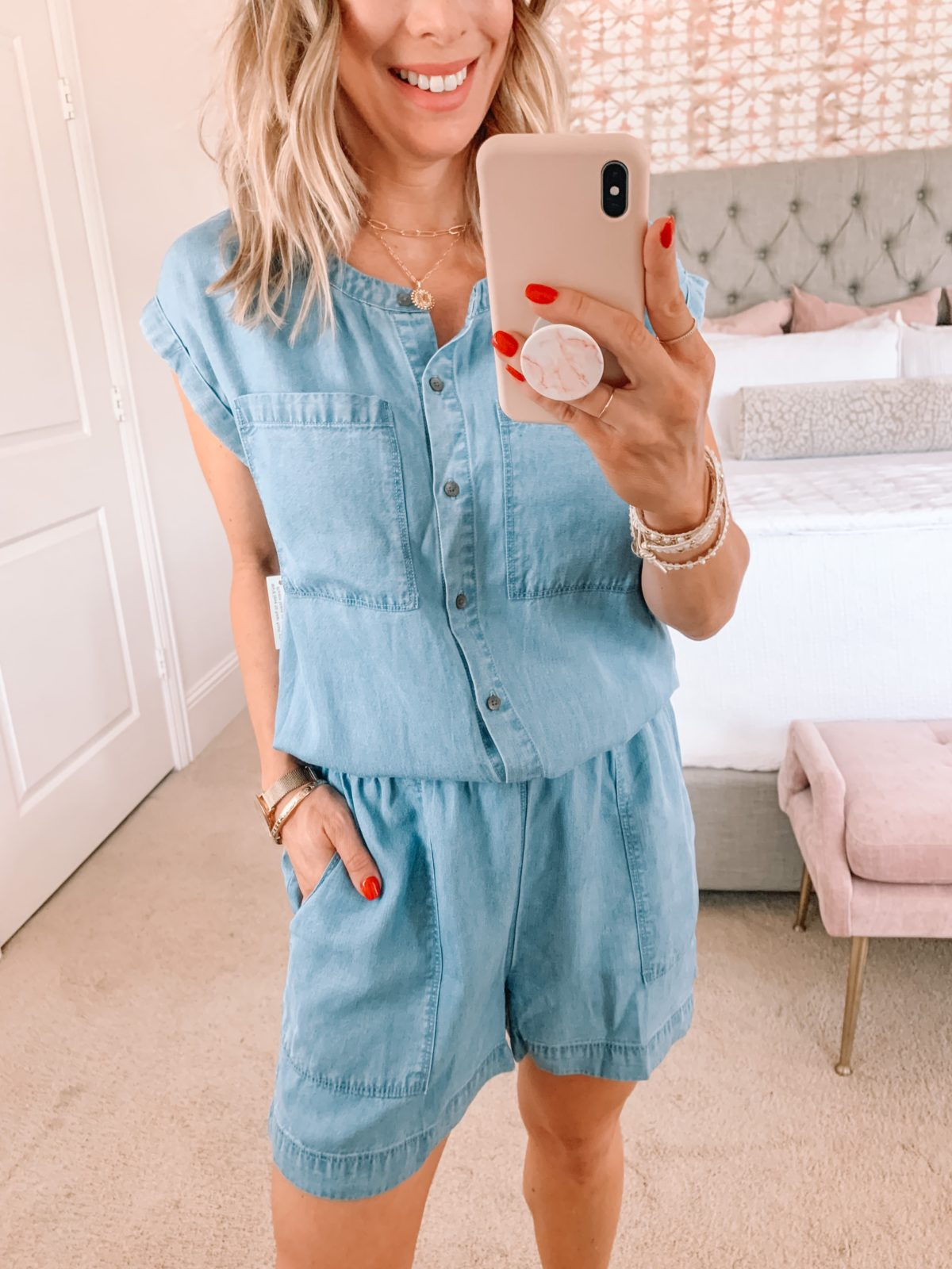Amazon Fashion Faves, Chambray Romper