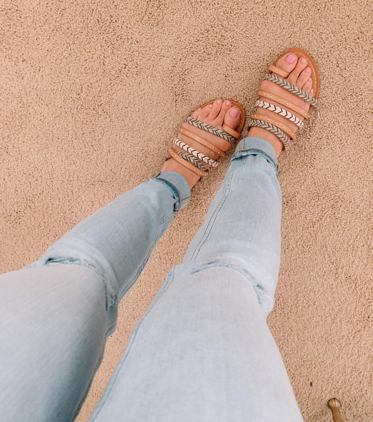 Walmart strappy sandals
