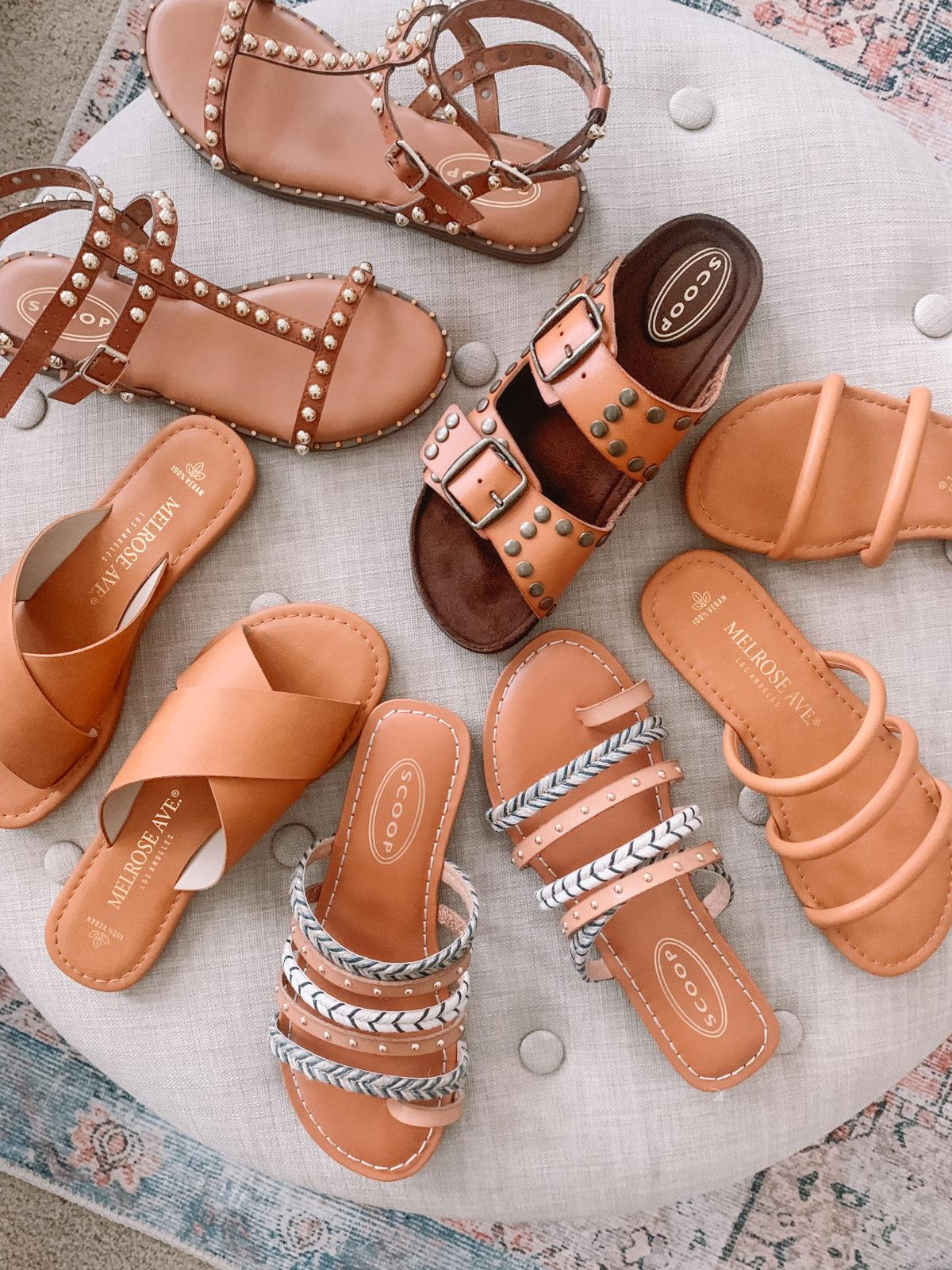 flat neutral sandals