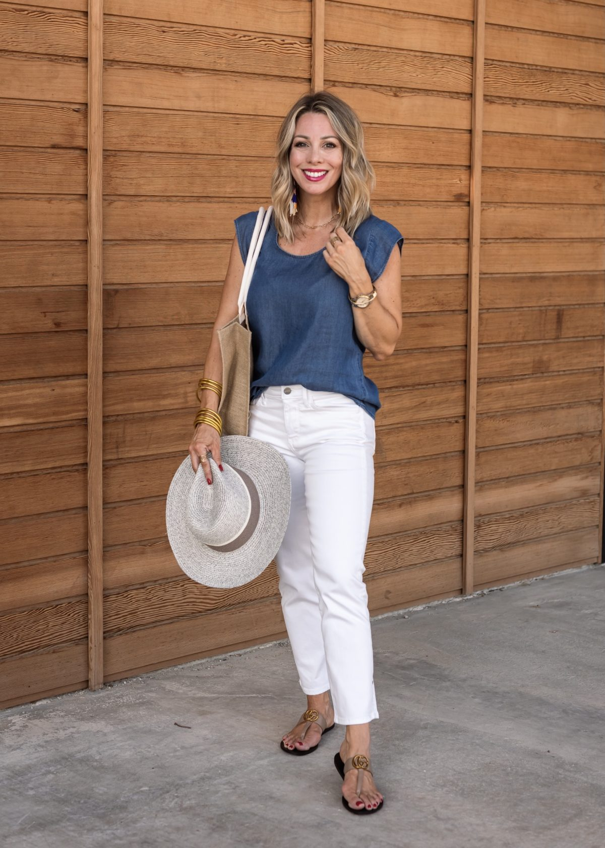 May Loves Giveaway white crop jeans