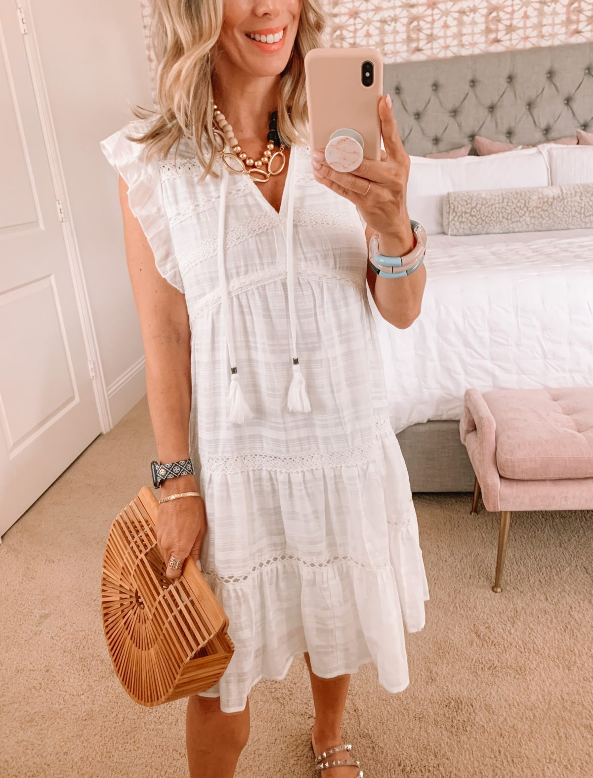Dressing Room Finds, Target Dress and Studded Sandals