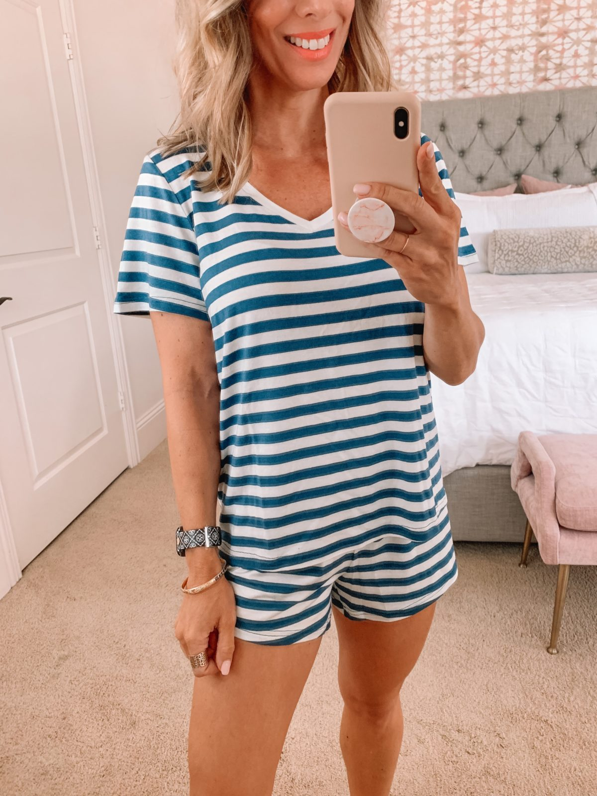 Dressing Room Finds, Striped Pajamas