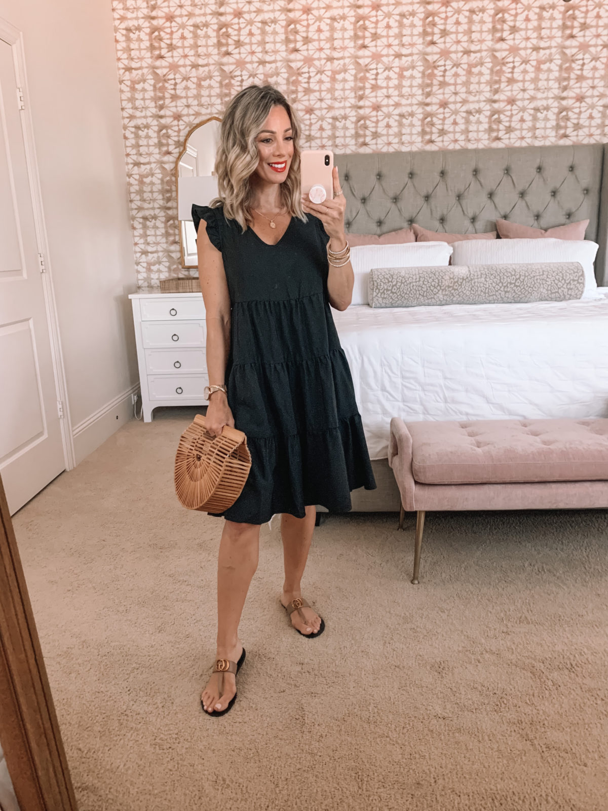 Amazon Fashion Faves, Black Baby Doll Dress And Sandals