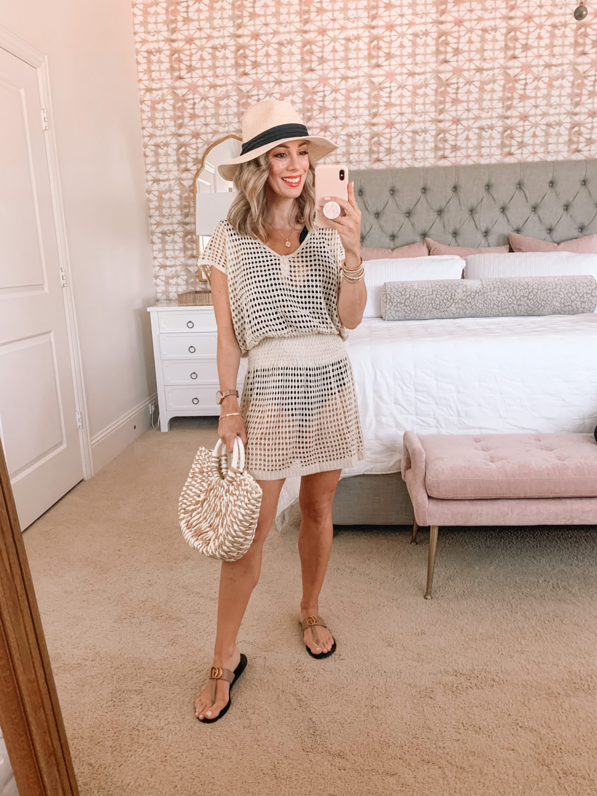 Amazon Fashion Faves, Hat, Cover Up, Sandals, Woven Bag