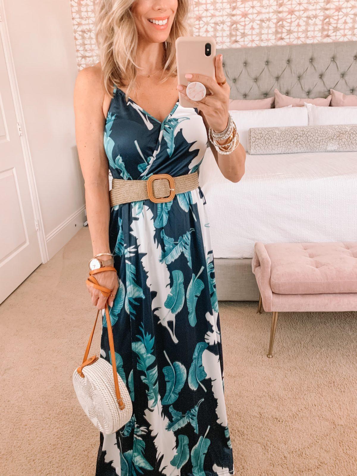 Amazon Fashion Faves, Floral Maxi Dress and Circle Crossbody