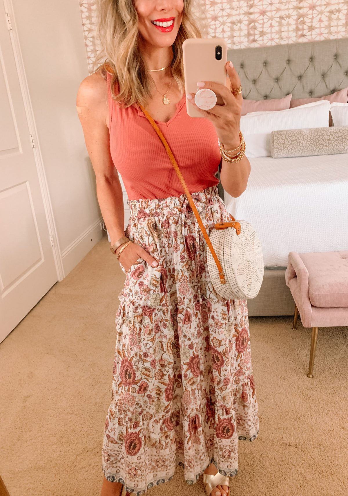 Amazon Fashion Faves, Tank, Skirt, Wedges and Crossbody