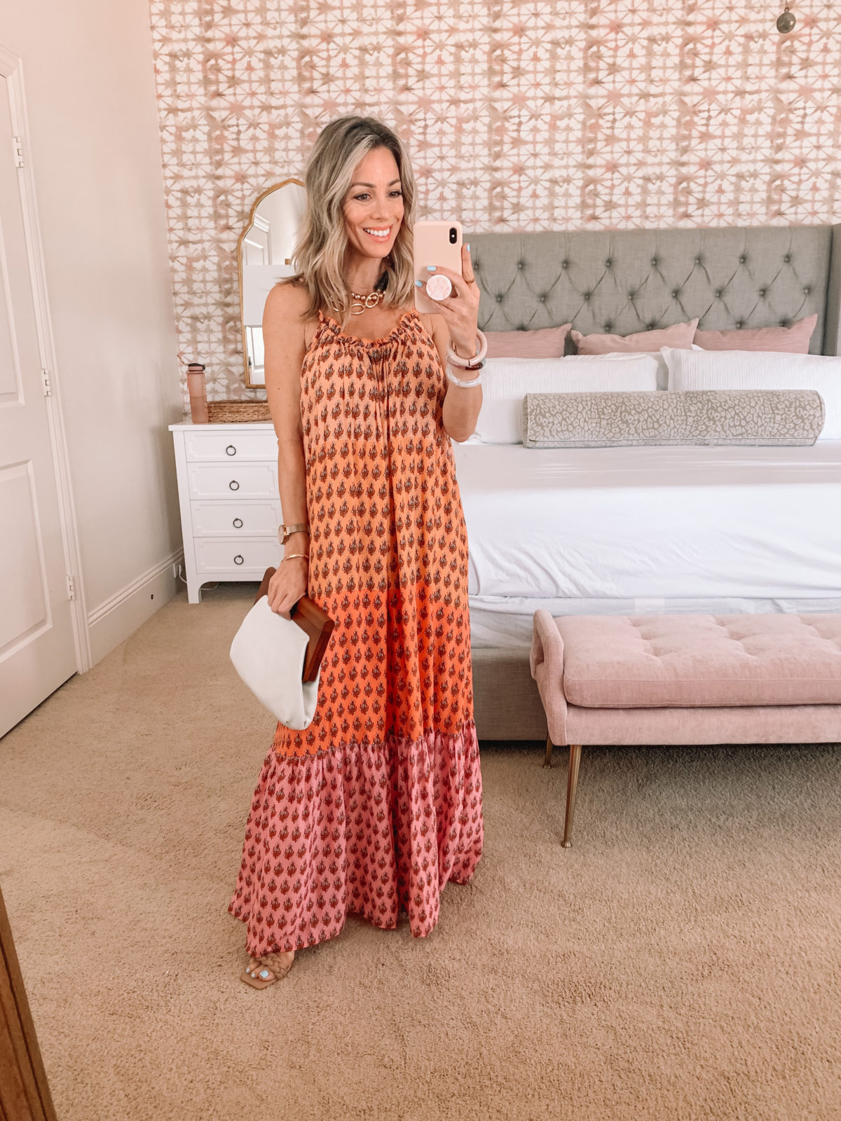 Dressing Room Finds, Maxi Dress and Clutch
