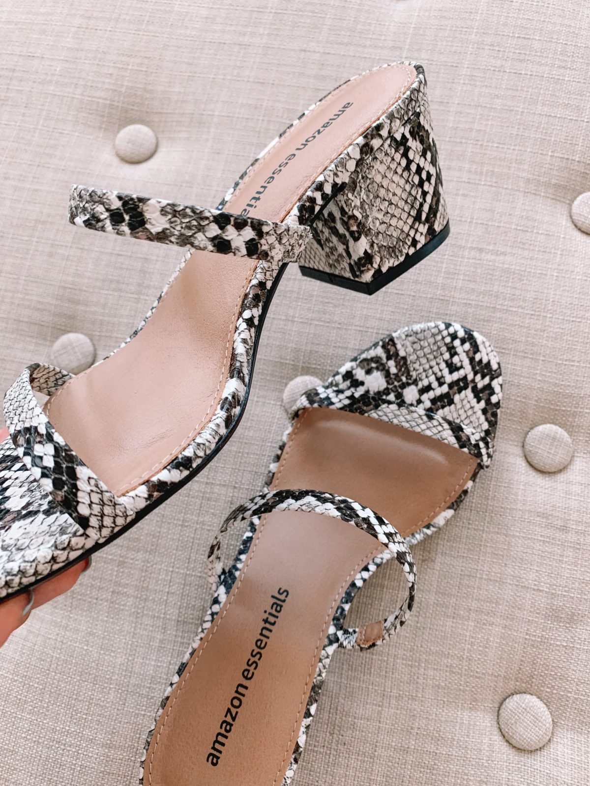 Amazon Fashion Faves, Snakeskin Sandals