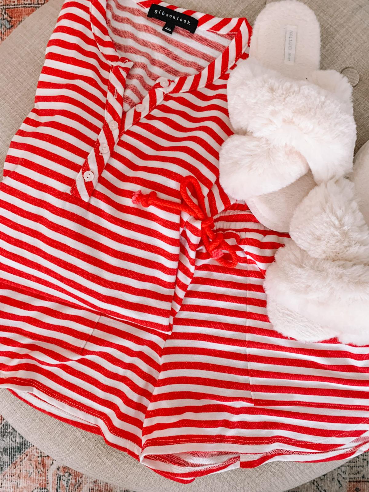 striped shorts lounge set Gibson x Hi Sugarplum Summer of Fun Collection