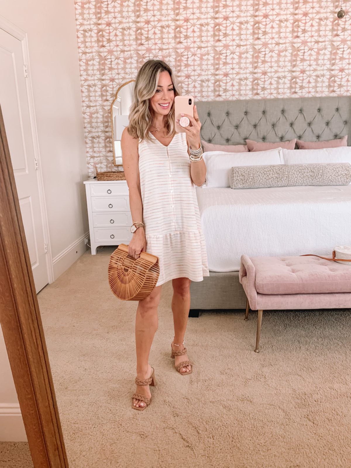 Dressing Room Finds, Shift Dress and Sandals