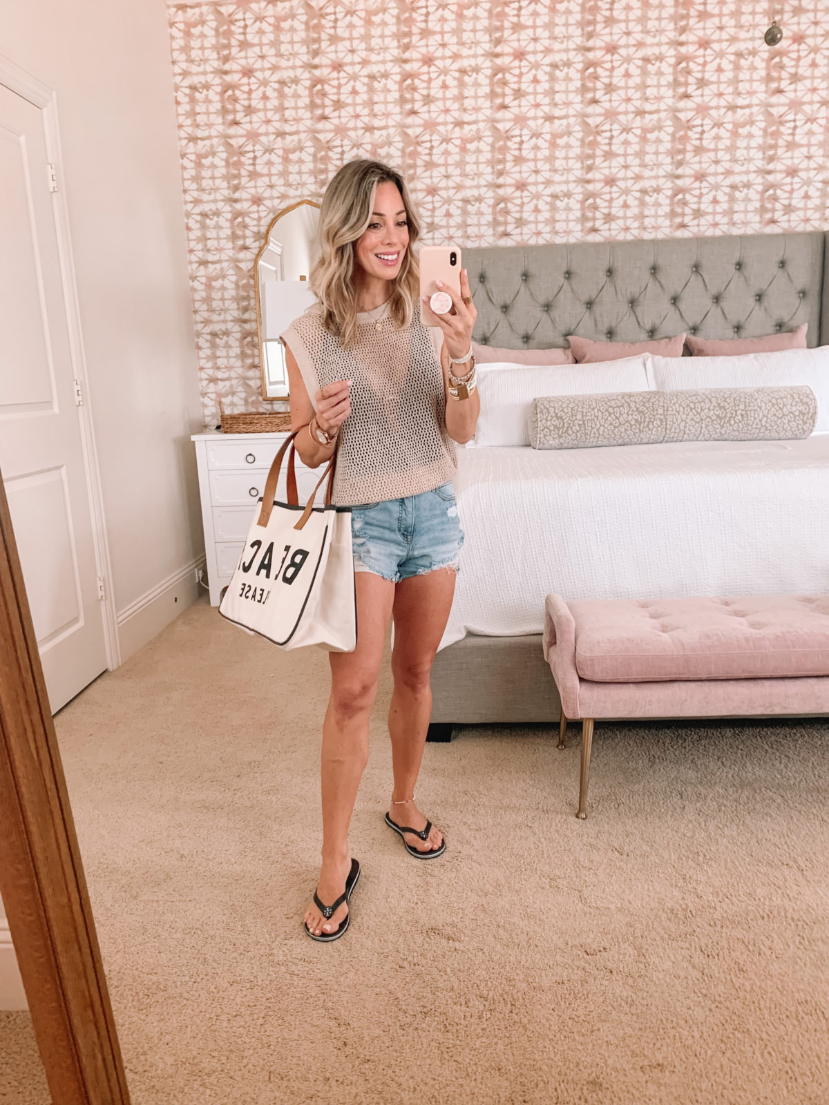 Dressing Room Finds, CoverUp and Shorts with Flip Flops