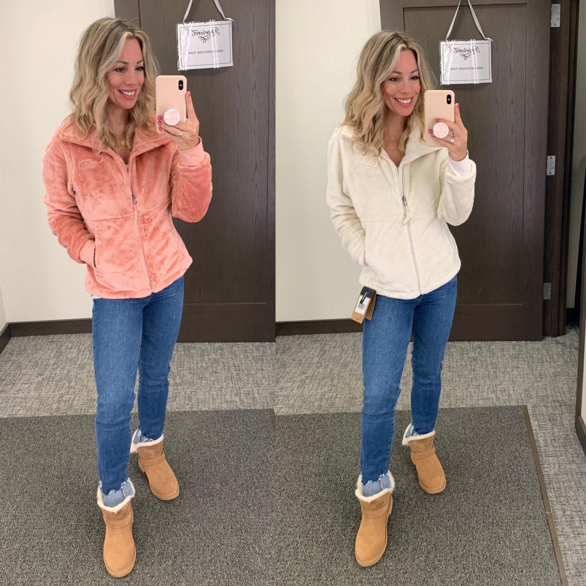 Nordstrom Anniversary Sale, North Face Fleece Jacket, Jeans, Booties