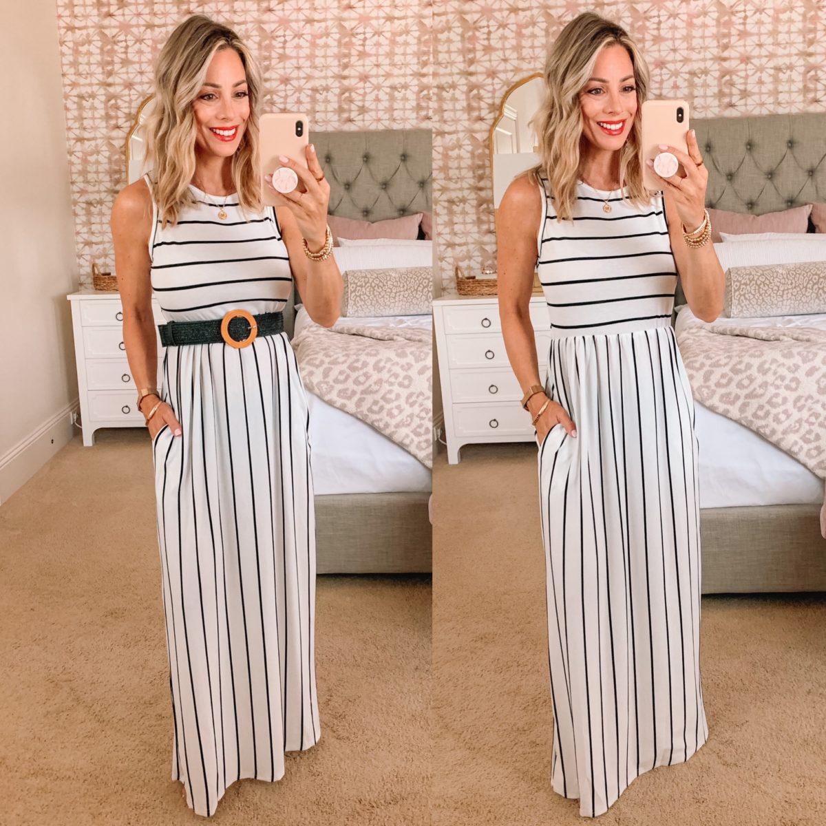 Amazon striped maxi dress