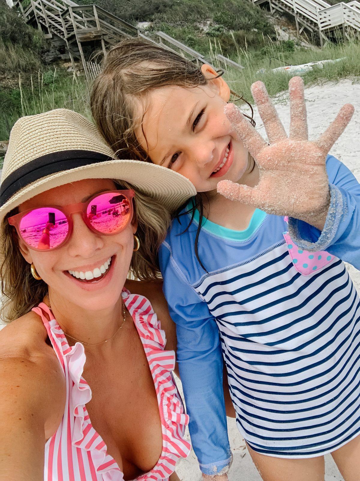 Goodr Sunglasses, Striped Swimsuit, Sun Hat