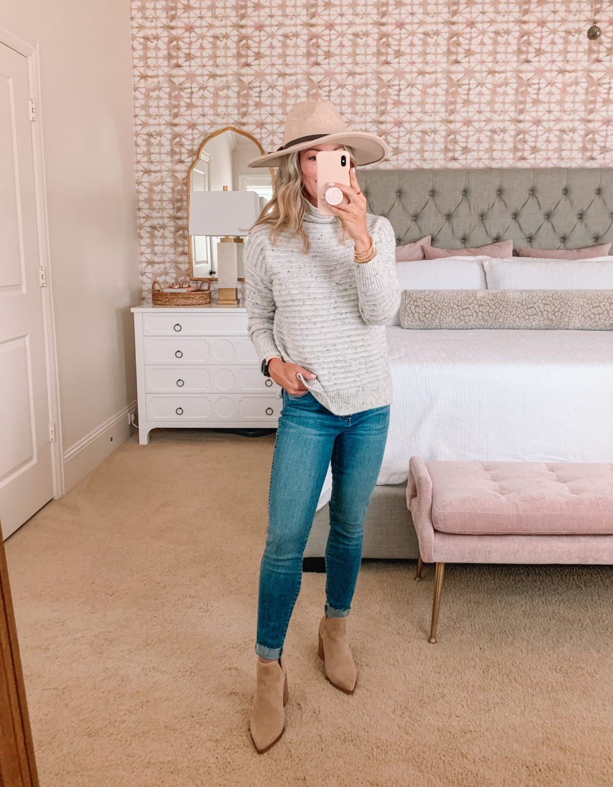 Nordstrom Anniversary Sale, Sweater, Jeans, Boots , Hat