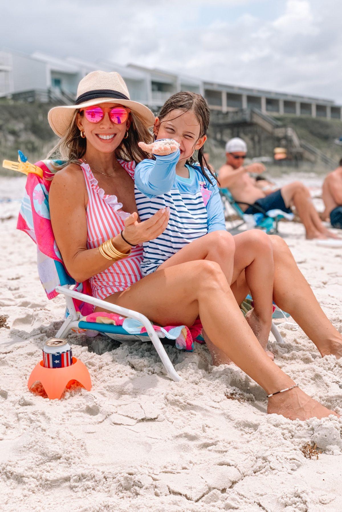 Goodr Sunglasses, Sun Hat, Striped Swimsuit, Cup Holder